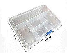 Органайзер для мелочей пластиковый компактный бокс на 5 ячеек