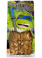 """Игровой набор защитный жилет, маска, меч и три сюрикена """"Леонардо"""" Черепашки Ниндзя"""