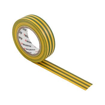 Изолента желто-зеленая15мм*10м*0,1мм WURTH