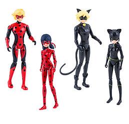 Леди Баг набор 4 героя с аксессуарами куклы ( 13 см )39945