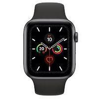 Apple Watch Series 5, GPS, корпус 40 мм, алюминий цвета «серый космос», спортивный ремешок чёрного цвета,