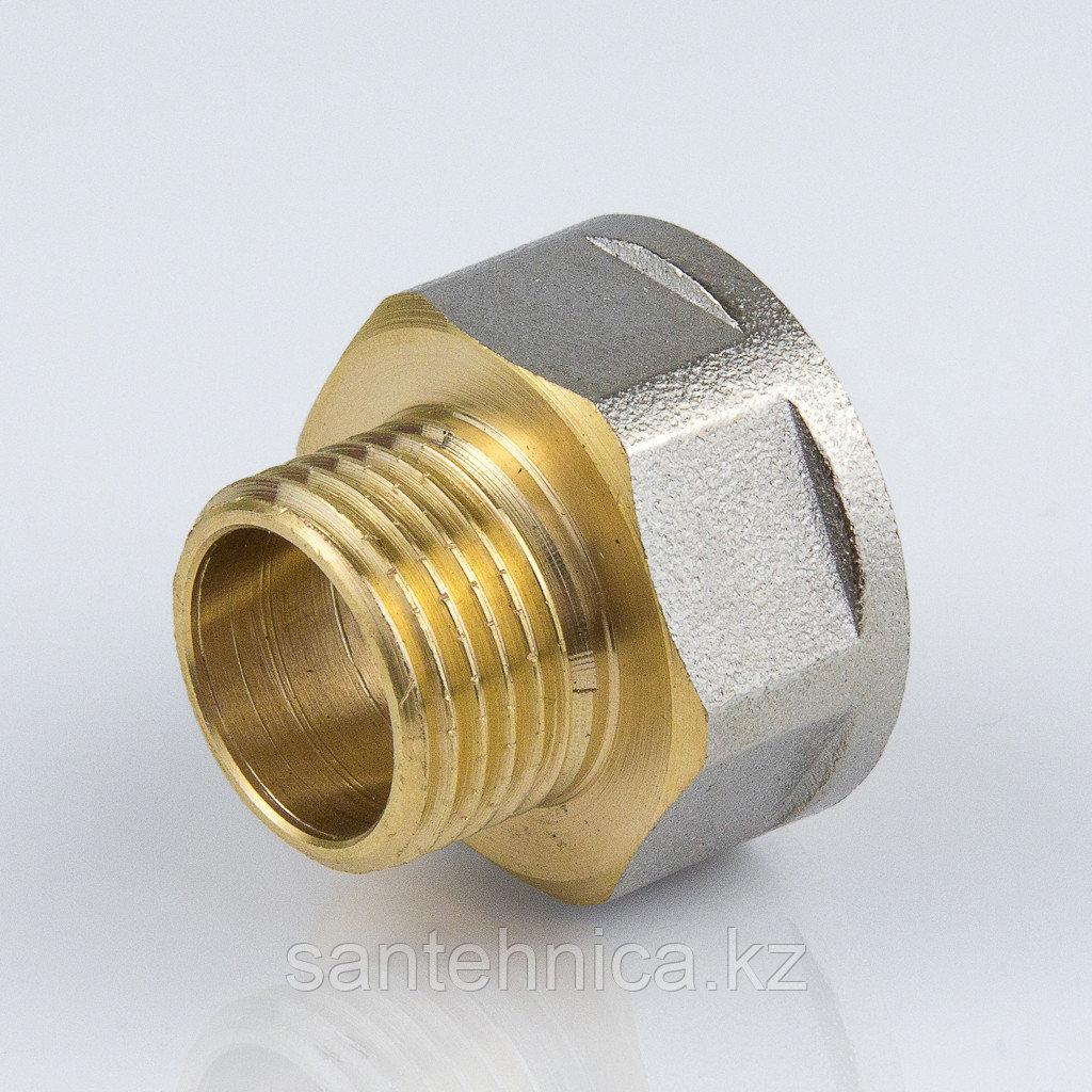 """Переходник латунь никель Ду 15х12 (1/2""""х3/8"""") внутр./наруж."""