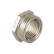 """Футорка латунь никель Ду 40х15 (1 1/2""""х1/2"""") наруж./внутр. VTr.581"""
