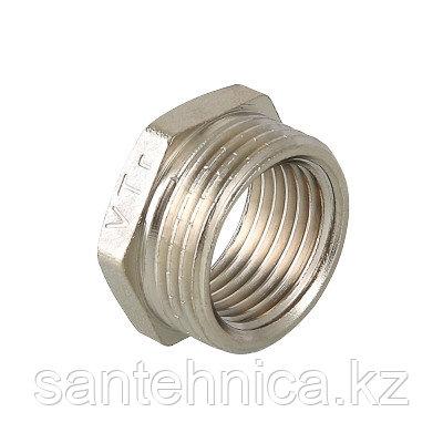 """Футорка латунь никель Ду 40х15 (1 1/2""""х1/2"""") наруж./внутр. VTr.581, фото 2"""