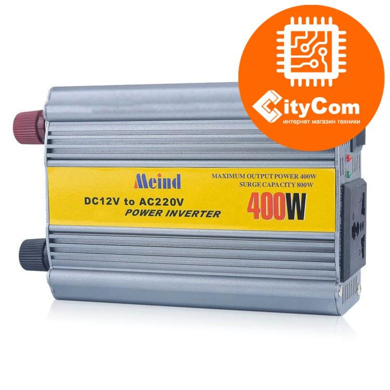 Инвертор (преобразователь) автомобильный 12в на 220в  Meind 400W, Инвертер DC 12V to AC 220V Арт.4954