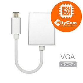 Адаптер (переходник) USB Type-C (m) to VGA (f). Конвертер. Арт.4957