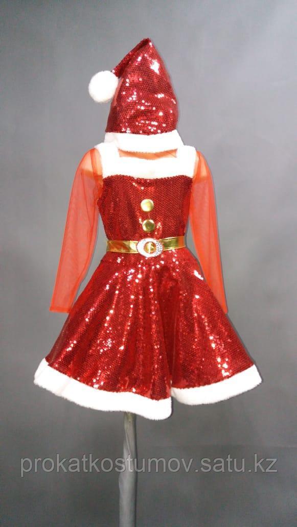 """Новогодний костюм """"Санта"""" для девочки"""