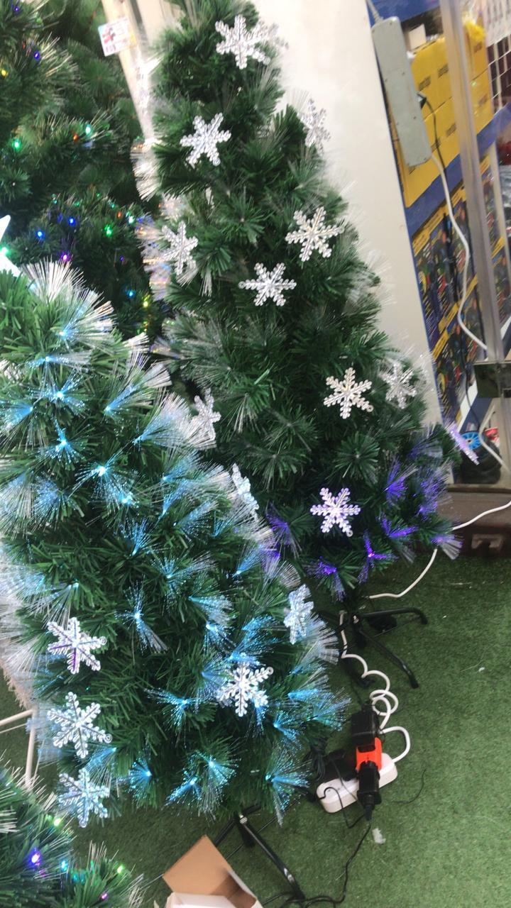 Ёлка новогодняя светящаяся с пультом  120 - 210см