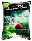 Fussie Cat 5л (4кг) Яблоко комкующийся наполнитель для кошачьих туалетов