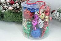 Набор цветных ёлочных игрушек  (24 Шт.), фото 2