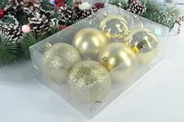 Набор больших ёлочных шаров (6 шт.)