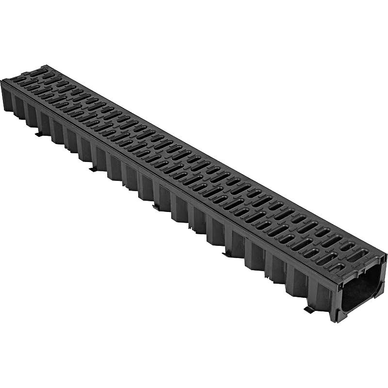 Лоток пластиковый с пластиковой решеткой 14,5х12см х1 м