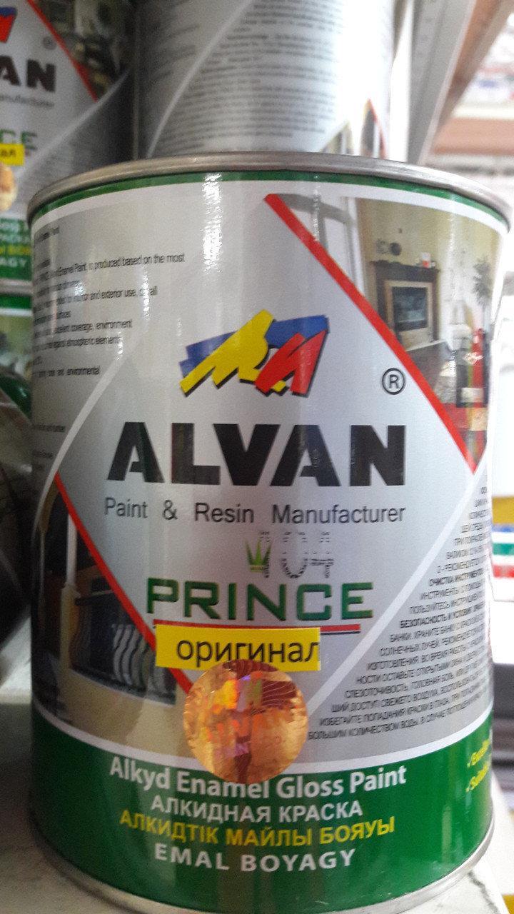 Краска алкидная красная 3,5 л/ ALVAN