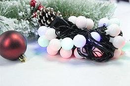 Гирлянда - разноцветные шарики сред.