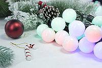 Гирлянда - разноцветные шарики бол., фото 2