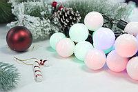 Гирлянда - разноцветные шарики бол., фото 3