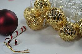 Гирлянда - золотые шарики