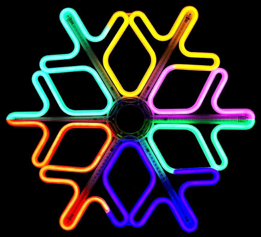 Светодиодная фигура снежинка 40*40, 144 LED