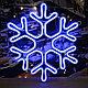 Светодиодная фигура снежинка 40*40, 144 LED, фото 4