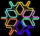 Светодиодная фигура снежинка 40*40, 144 LED, фото 3