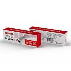 Источник питания  компактный 12V, 12,5A, 150W с разъёмами под винт, без влагозащиты (IP23)  REXANT