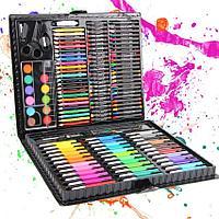 Детский набор для творчества 150 предметов (художественный набор для рисования в чемоданчике)