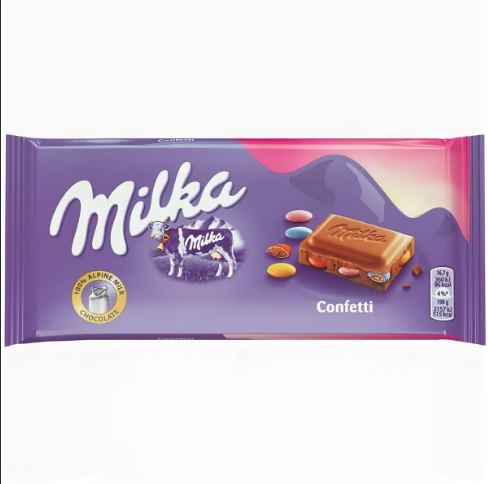 MILKA milka tablet confetti драже конфетти (100грам )