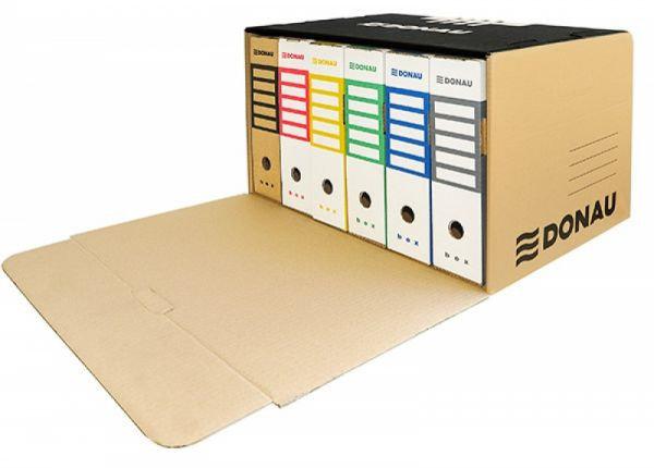 Короб архивный, 555x360x315мм, картонный, бронзовый Donau, фото 2