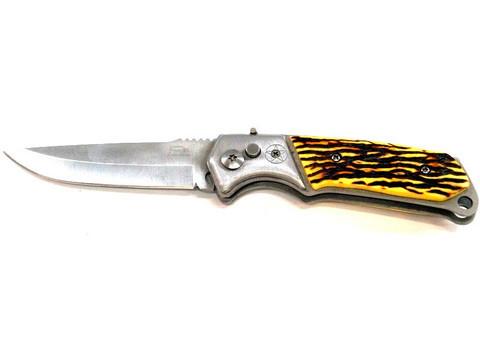 Нож выкидной автоматический Stainless (Желтый)