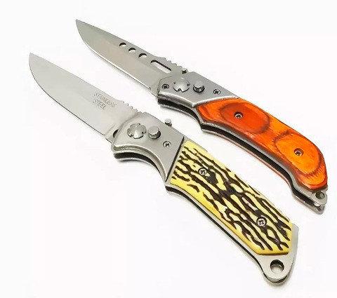 Нож выкидной автоматический Stainless (Желтый), фото 2