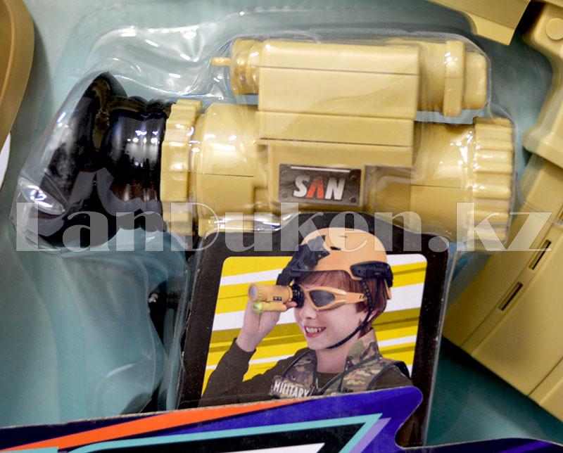 """Игровой набор военного """"Justice Force"""" песочный (автомат, шлем, очки и др) - фото 5"""
