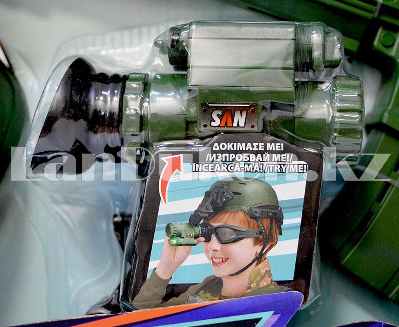 """Игровой набор военного """"Justice Force"""" зеленый (автомат, шлем, очки и др) - фото 5"""