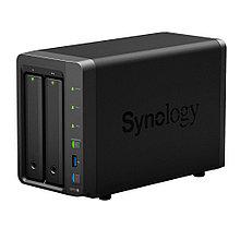 Synology DS718+ Сетевой NAS-сервер, 2 отсека для HDD