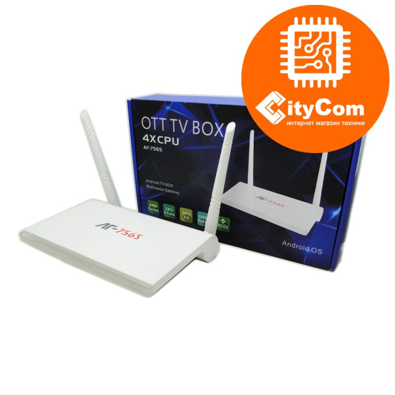 Приставка Android TV box к телевизору, ОС Андроид ТВ  Mini PC AT-756S Арт.5013