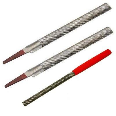 Рашпиль Iwasaki, красный, прямой, полукруглый, 200*20мм, шаг-1.2мм
