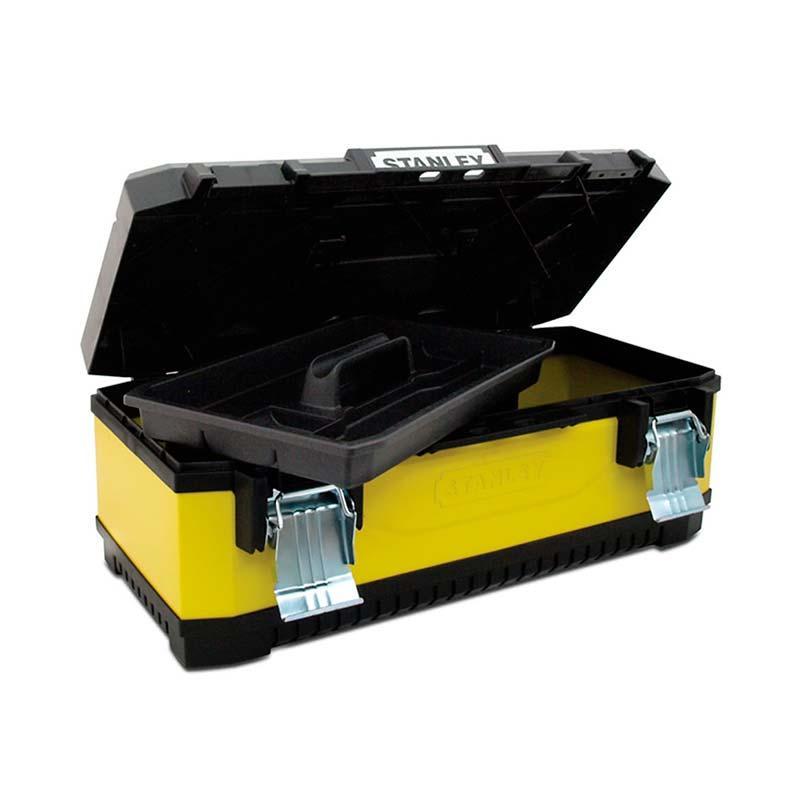 Ящик для инструментов Stanley 1-95-613, металлопластиковый, желтый