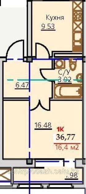 1 комнатная квартира ЖК Viva Grand (Вива Гранд)  36.77 м²