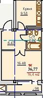 1 комнатная квартира ЖК Viva Grand (Вива Гранд)  36.77 м², фото 1