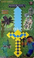 Игровой набор Minecraft (Майнкрафт) меч на батарейках светящийся музыкальный, человечек и паук