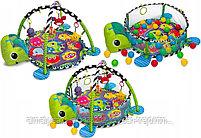Развивающий коврик и сухой бассейн «Черепашка»3 в 1+(30 шариков), фото 4