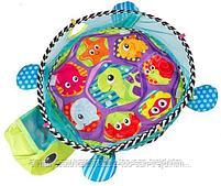 Развивающий коврик и сухой бассейн «Черепашка»3 в 1+(30 шариков), фото 3
