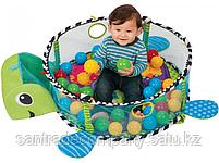 Развивающий коврик и сухой бассейн «Черепашка»3 в 1+(30 шариков), фото 5