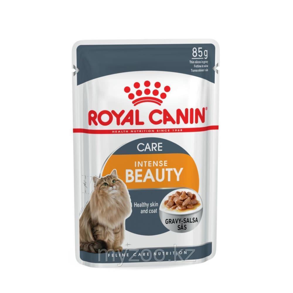 Влажный корм для красоты кожи и шерсти у кошек Royal Canin INTENSE BEAUTY PORK FREE 1*85G
