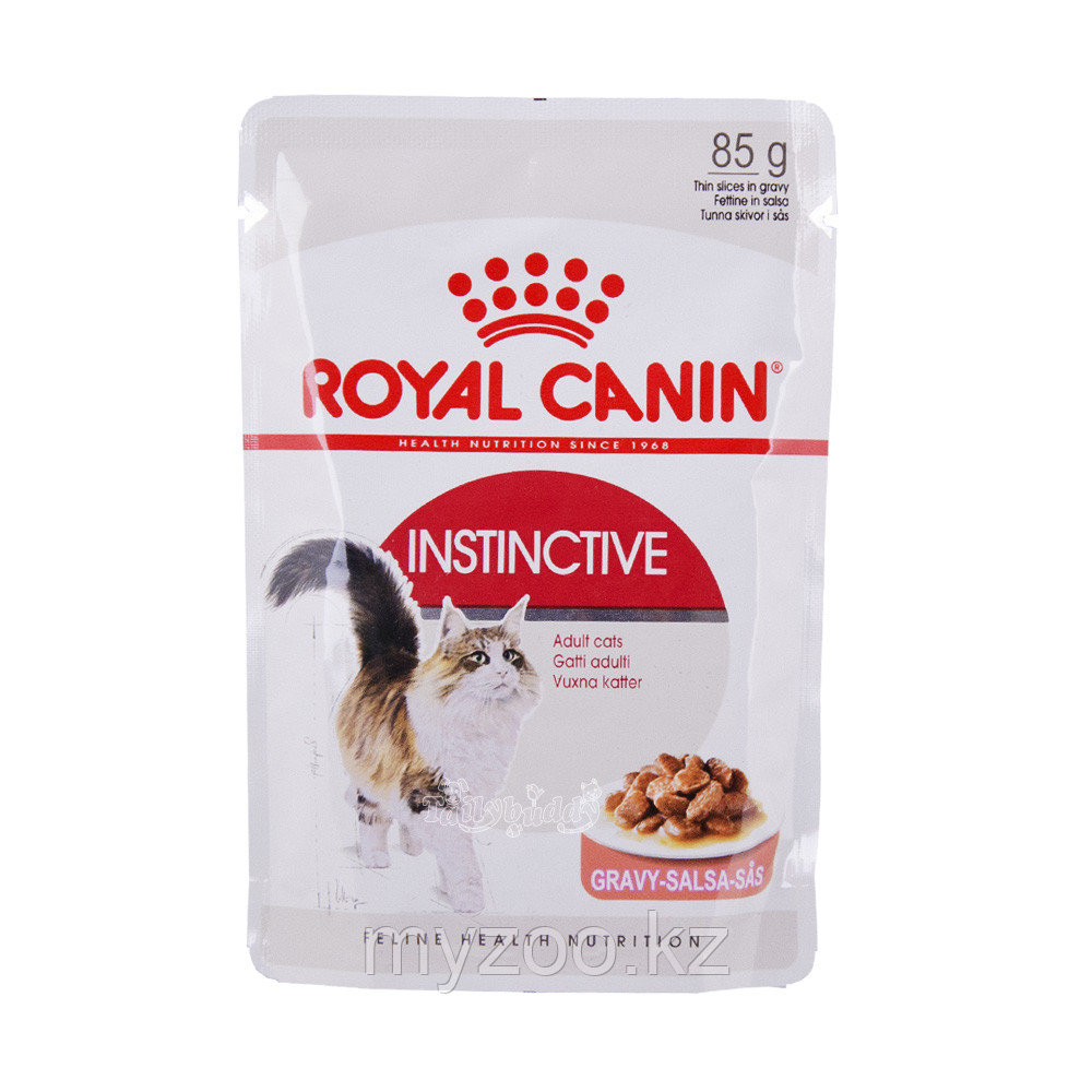 Влажный корм для кошек в соусе INSTINCTIVE IN JELLY 1*85G