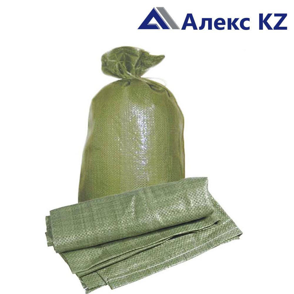 Мешки полипропиленновые 55*105 (зеленые) верх прошит