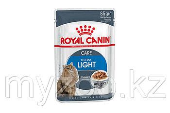 Влажный корм для кошек склонных к полноте Royal Canin ULTRA LIGHT 1*85G
