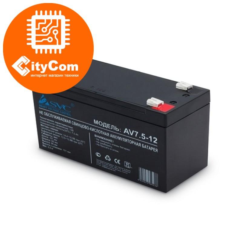 Батарея аккумулятор UPS SVC 12V 12Ah для источника бесперебойного питания. Арт.3631