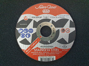 Круг отрезной Inox&Metal 115 х 3 х 22,23 SwatyComet 20A30P-BF (Weiler Abrasives, Slovenija)