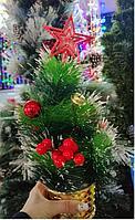 Декоративная елка в горшочке размер 40*18 см