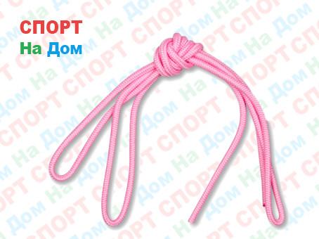 Скакалка гимнастическая розовая (однотонная, 3 метра)